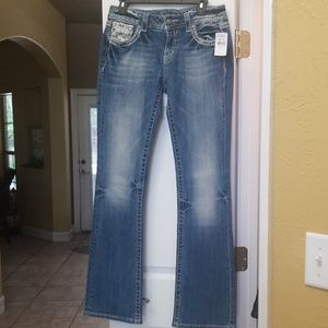 NWT Miss Me Signature Bootcut Jean's Size 29x34